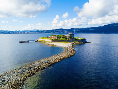 Foto für Munkholmen is an islet north of Trondheim, Norway. The islet has served as a place of execution, a monastery, a fortress,  prison. - Lizenzfreies Bild