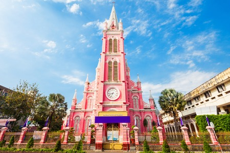 Photo for Tan Dinh parish church or Church of the Sacred Heart of Jesus is a church located in Ho Chi Minh City in Vietnam - Royalty Free Image