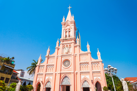 Foto de Da Nang Cathedral is a catholic church in Danang city in Vietnam - Imagen libre de derechos
