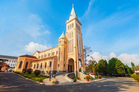 Photo for The St. Nicholas Cathedral is a Roman Catholic church in Dalat in Vietnam - Royalty Free Image