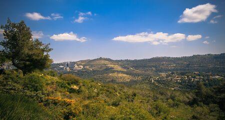 Scenic view on the hills of Jerusalem near Bet-Shemesh, Israel