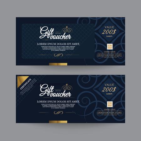 Illustration for Gift Voucher Premier Color, Ribbons. - Royalty Free Image