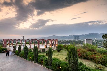 Foto de View of Islamabad Skyline from Pakistan monument - Imagen libre de derechos