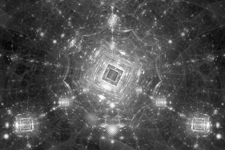 Photo pour Quantum computer black and white intensity map, computer generated abstract effect, 3D rendering - image libre de droit