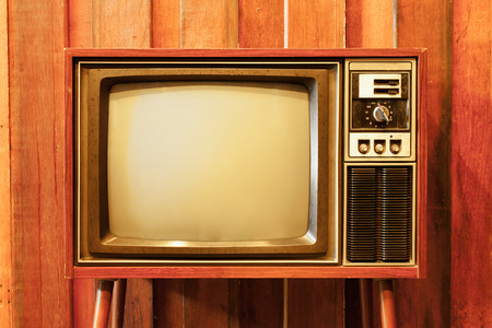 Photo for Old vintage television - Royalty Free Image