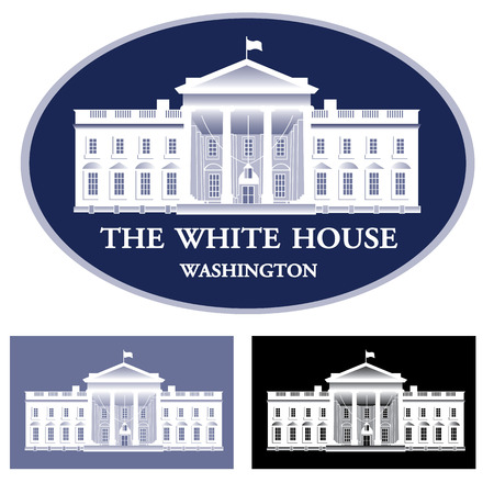 Illustration pour White House - detailed vector illustration - image libre de droit