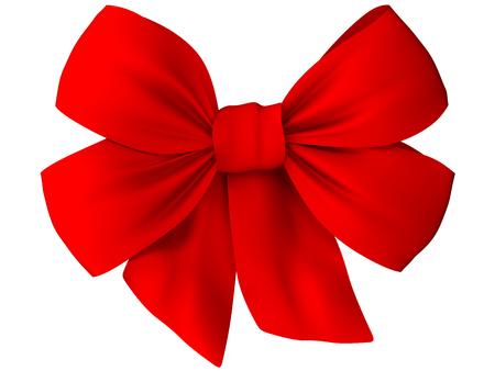 Photo pour Red bow of fabric - image libre de droit