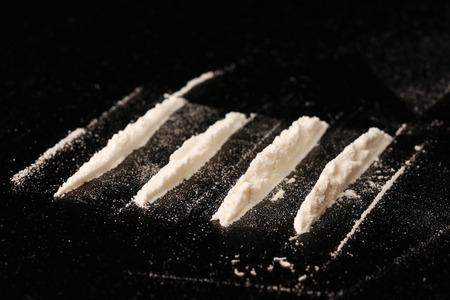 Foto de close-up drugs on black background studio - Imagen libre de derechos