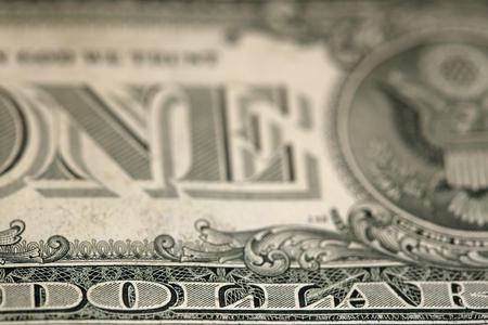 Photo pour macro fragment banknote one US dollar, low depth of field - image libre de droit