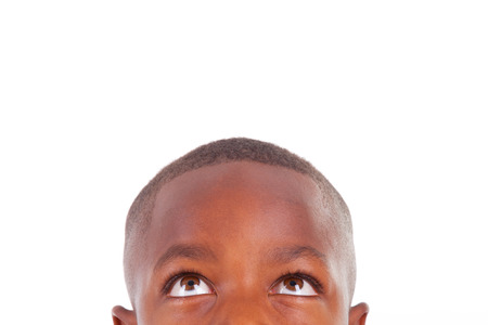 Photo for African American boy looking, isolated - Black people - Royalty Free Image
