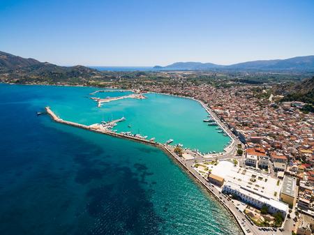 Photo pour Aerial  view of Zakynthos city in  Zante island, in Greece - image libre de droit