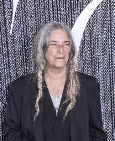 Photo for New York, NY, USA - October 2, 2019: Patti Smith attends the New York premiere of The King at SVA Theater, Manhattan - Royalty Free Image