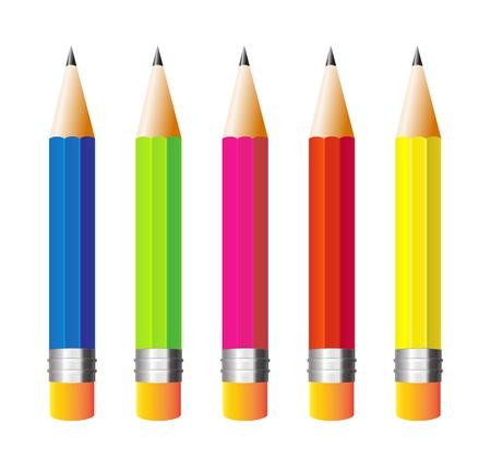 Illustration pour illustration pencils isolated on white background - image libre de droit