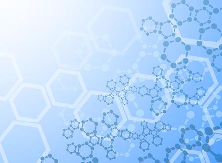 Illustration pour Abstract molecules medical background - image libre de droit