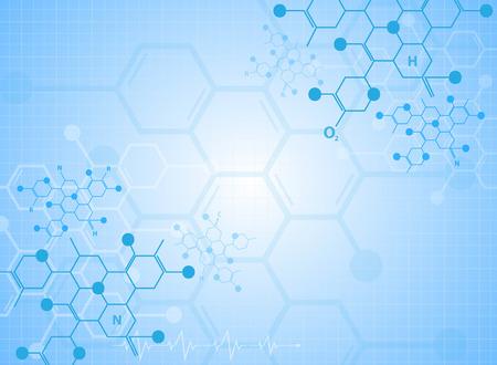 Ilustración de Abstract background medical substance and molecules. - Imagen libre de derechos