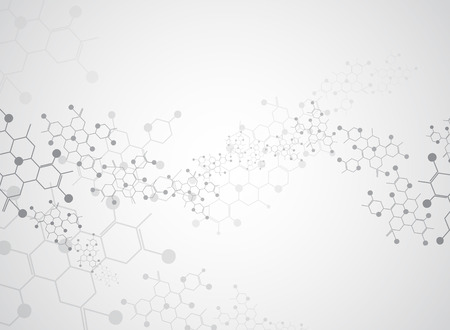 Illustration pour Abstract background medical substance and molecules. - image libre de droit
