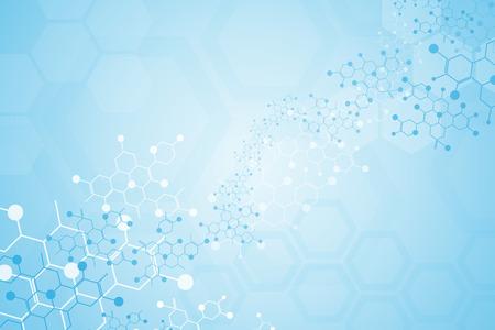 Illustration pour Abstract background medical substance and molecules. - image libre de droit