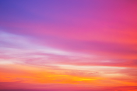 Foto de Colorful sky after the sunset. Evening sky background. - Imagen libre de derechos