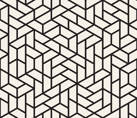 Ilustración de Vector seamless pattern. Modern stylish texture. Repeating geometric tiles from striped triangle elements  - Imagen libre de derechos