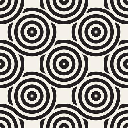 Illustration pour A Vector seamless rounded lines texture. Modern geometric circular shape background. - image libre de droit