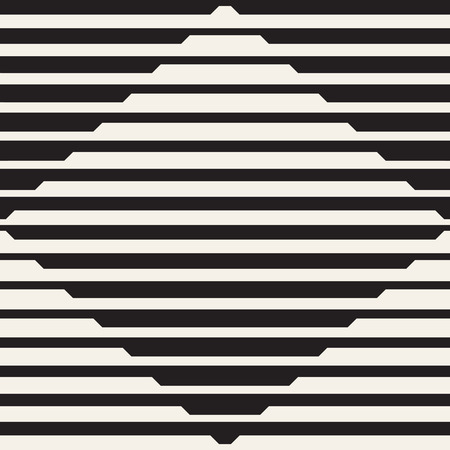 Illustration pour Vector seamless black and white halftone lines pattern. Abstract geometric retro background design. - image libre de droit