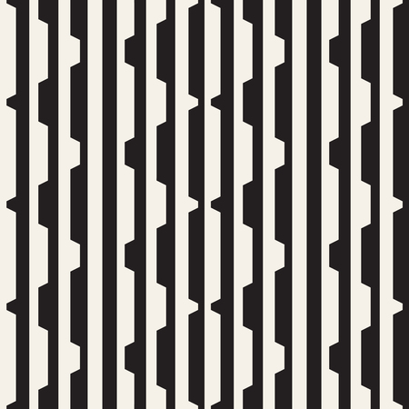 Ilustración de Vector seamless black and white halftone lines pattern. Abstract geometric retro background design. - Imagen libre de derechos