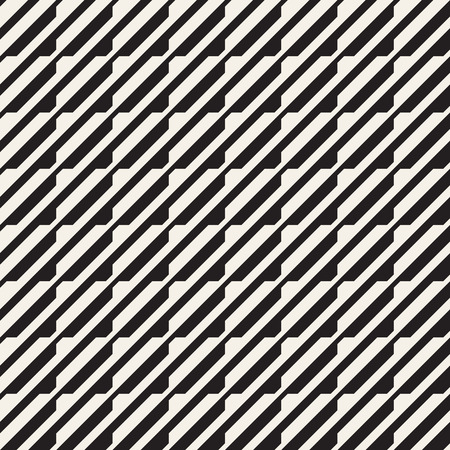 Ilustración de Vector seamless black and white halftone lines grid pattern. Abstract geometric retro background design. - Imagen libre de derechos