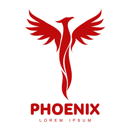 Illustration pour Stylized graphic phoenix bird logo templates. Collection of creative phoenix bird logotype templates, growth, development, power concept. Vector illustration isolated on white background. - image libre de droit
