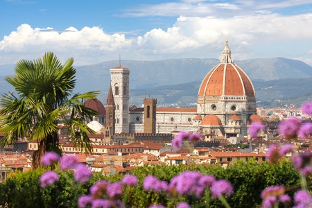 Photo pour Florence in spring time, Tuscany, Italy  - image libre de droit