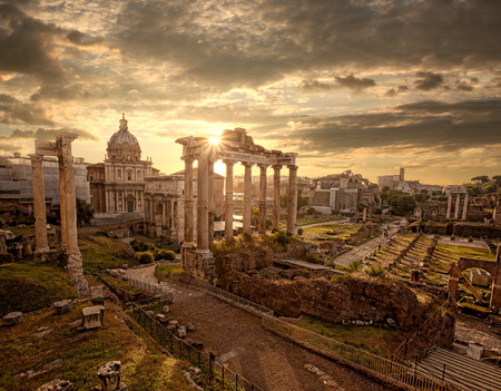 Photo for Famous Roman ruins in Rome, Capital city of Italy - Royalty Free Image