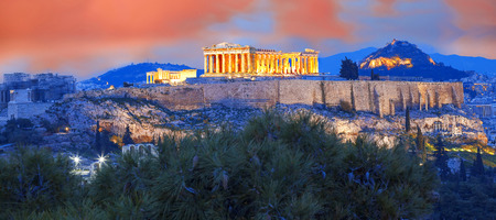 Photo for Acropolis with Parthenon temple in Athens, Greece - Royalty Free Image