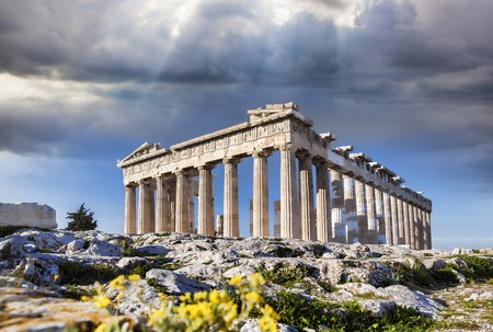Photo for Famous Parthenon temple on the Acropolis in Athens Greece - Royalty Free Image
