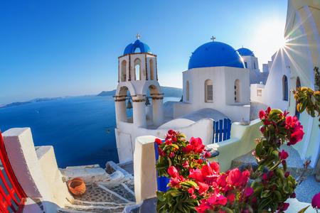 Photo for Oia village in Santorini island, Greece - Royalty Free Image