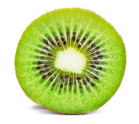 Photo for Slice of fresh kiwi fruit isolated on white background - Royalty Free Image