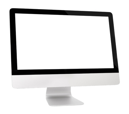Foto de Computer monitor on a white background, isolated - Imagen libre de derechos