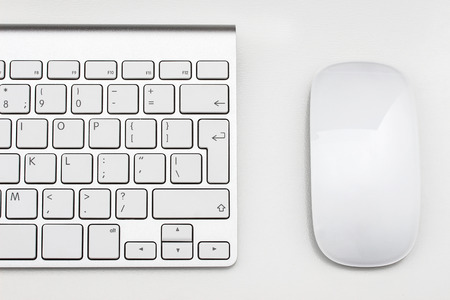 Photo for Workplace with keyboard and mouse - Royalty Free Image