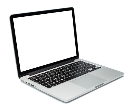 Photo pour Laptop closeup on white background - image libre de droit