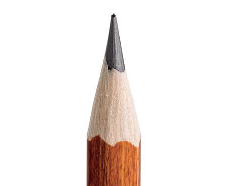 Photo pour Pencil point close-up on white background - image libre de droit