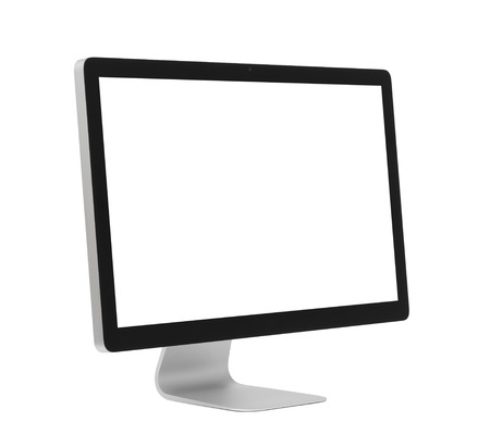 Foto de Computer monitor isolated on white - Imagen libre de derechos