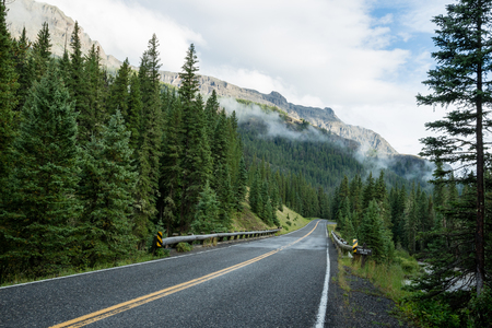 Photo pour Beartooth highway, Montana, United States surrounded by lush green forest and mountains - image libre de droit