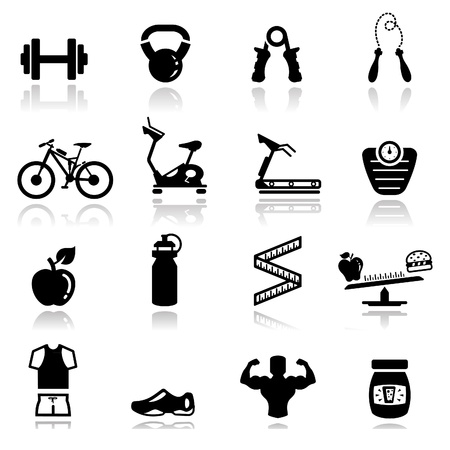 Photo for Icons set fitness - Royalty Free Image