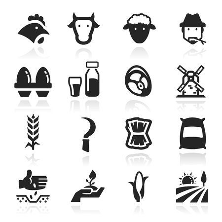 Farm icons set - Elegant series