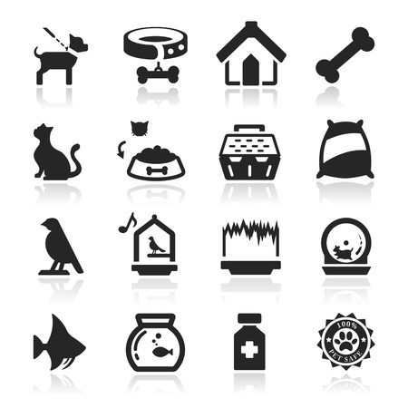 Pets icons set - Elegant series