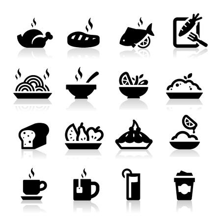 Food and Drink icons set Elegant series