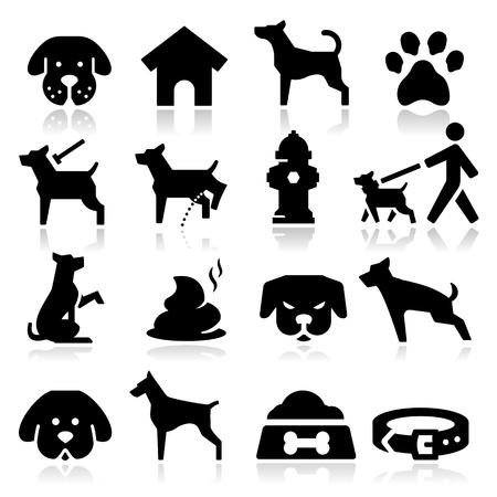 Illustration pour Dog Icons - image libre de droit
