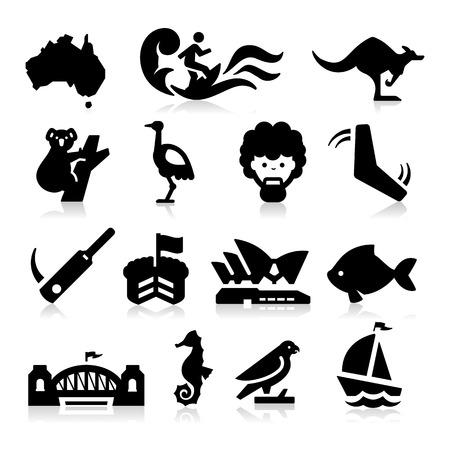 Illustration for Australia Icons - Royalty Free Image