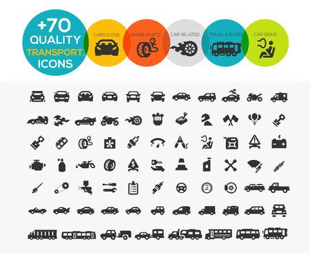 Illustration pour 74 Transportation Icons extreme Series - image libre de droit