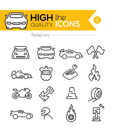 Illustration pour Racing Line Icons - image libre de droit