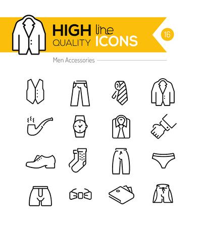 Illustration pour Men accessories line icons series - image libre de droit