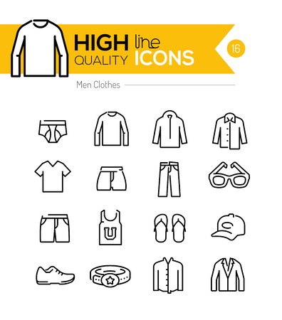 Illustration pour Men Clothes line icons series - image libre de droit